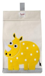3 Sprouts - Diaper Stacker - Yellow Rhino