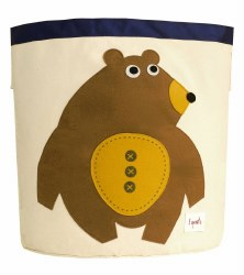 3 Sprouts - Storage Bin - Bear Toffee