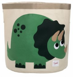 3 Sprouts - Storage Bin - Dinosaur Green