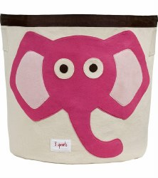 3 Sprouts - Storage Bin - Elephant Pink