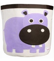 3 Sprouts - Storage Bin - Hippo Purple