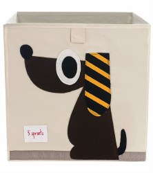 3 Sprouts - Storage Box - Dog Brown