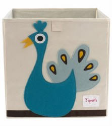3 Sprouts - Storage Box - Peacock Blue