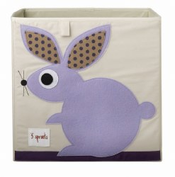 3 Sprouts - Storage Box - Rabbit Purple