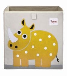 3 Sprouts - Storage Box - Rhino Yellow