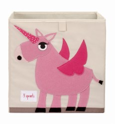 3 Sprouts - Storage Box - Unicorn Pink