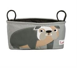 3 Sprouts - Stroller Organizer - Bulldog Grey