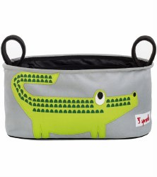 3 Sprouts - Stroller Organizer - Crocodile Green