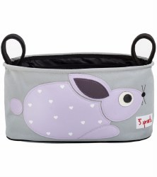 3 Sprouts - Stroller Organizer - Rabbit Purple