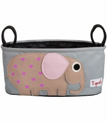3 Sprouts - Stroller Organizer - Elephant Pink