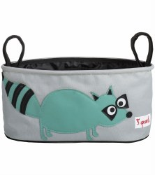 3 Sprouts - Stroller Organizer - Raccoon Teal