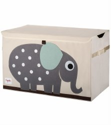 3 Sprouts - Toy Chest - Elephant Grey