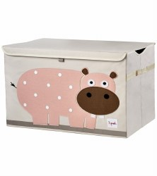 3 Sprouts - Toy Chest - Hippo Pink