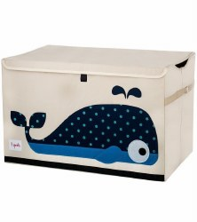3 Sprouts - Toy Chest - Whale Blue