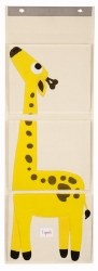 3 Sprouts - Wall Organizer - Giraffe Yellow
