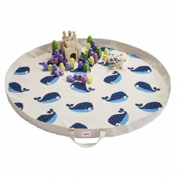 3 Sprouts - Play Mat Bag - Whale Blue