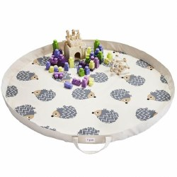 3 Sprouts - Play Mat Bag - Hedgehog Grey