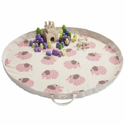 3 Sprouts - Play Mat Bag - Elephant Pink