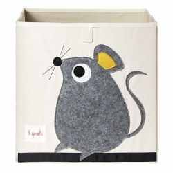 3 Sprouts - Storage Box - Mouse Grey