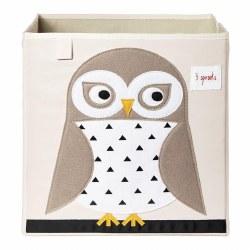 3 Sprouts - Storage Box - Owl White