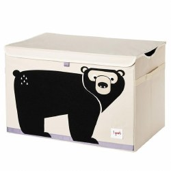 3 Sprouts - Toy Chest - Bear Black