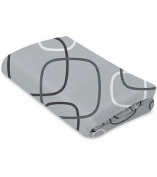 4 Moms - Breeze Waterproof Bassinet Sheet - Silver