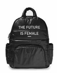 7AM - BK718 Backpack - Feminist Black/Puffer