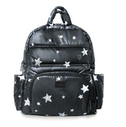 7AM - BK718 Backpack - Black Print Stars *Backorder*