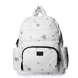 7AM - BK718 Backpack - White Print Stars