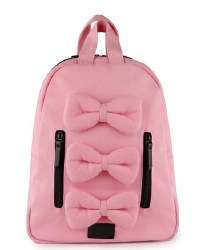 7AM - Mini Bows Cotton Backpack - Ballet