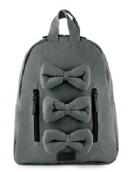 7AM - Mini Bows Cotton Backpack - Shadow