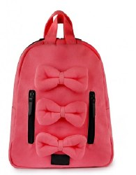 7AM - Mini Bows Cotton Backpack - Velour