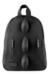 7AM - Mini Dino Cotton Backpack - Black