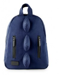 7AM - Mini Dino Cotton Backpack - Navy *Backorder*