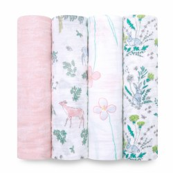 Aden + Anais - Classic Swaddle 4 Pack - Forest Fantasy