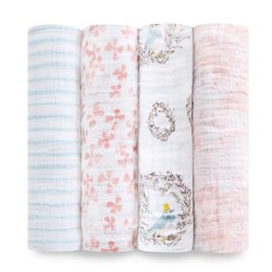 Aden + Anais - Classic Swaddle 4 Pack - Birdsong