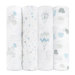 Aden + Anais - Classic Swaddle 4 Pack - Night Sky Reverie