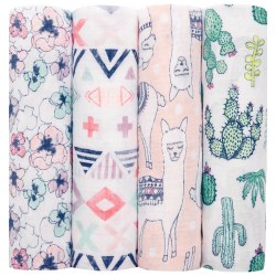 Aden + Anais - Classic Swaddle 4 Pack - Trail Blooms