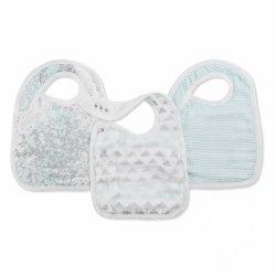 Aden + Anais - Bamboo Snap Bib Metallic Skylight Birch