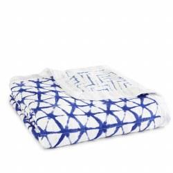 Aden + Anais - Bamboo Dream Blanket - Indigo Shibori
