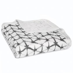 Aden + Anais - Bamboo Dream Blanket Pebble Shibori