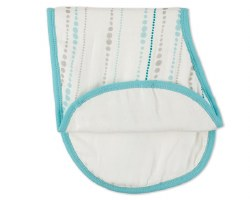 Aden + Anais - Bamboo Silky Soft Burpy Bib - Azure Bead