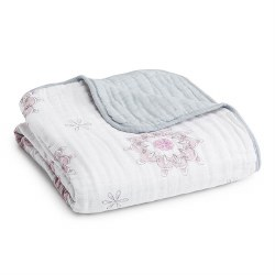 Aden + Anais - Classic Dream Blanket - For the Birds Medallions