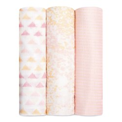 Aden + Anais - Bamboo Swaddle 3 Pack - Metallic Primrose Birch