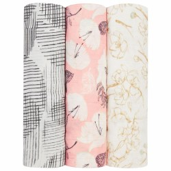 Aden + Anais - Bamboo Swaddle 3 Pack - Pretty Petals