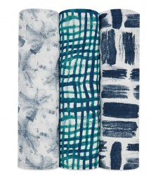 Aden + Anais - Bamboo Swaddle 3 Pack - Seaport
