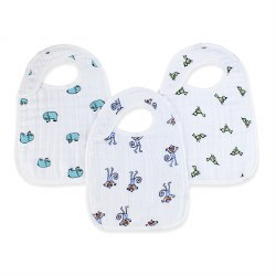 Aden + Anais - Classic Snap Bib 3 Pack - Jungle Jam