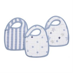 Aden + Anais - Classic Snap Bib 3 Pack - Rock Star