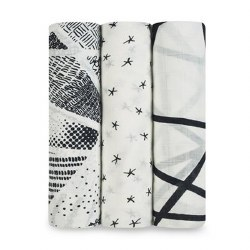 Aden + Anais - Bamboo Swaddle 3 pack - Midnight