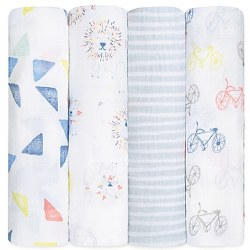 Aden + Anais - Classic Swaddle 4pack - Leader of the Pack